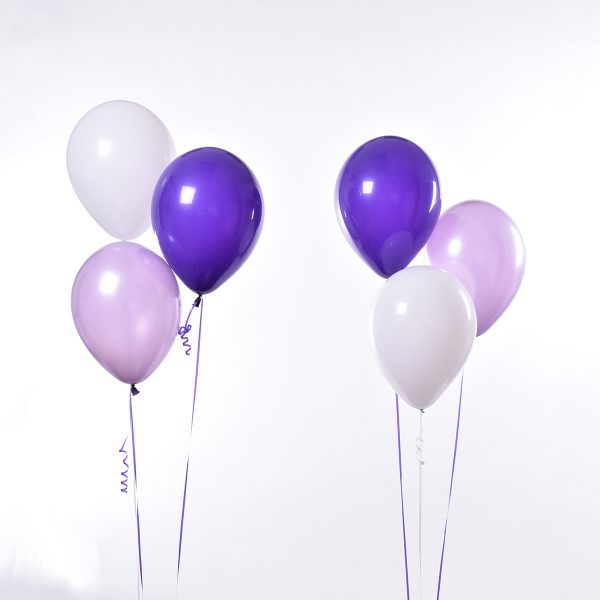 Triple Purple Pastel Purple White